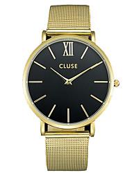 cheap -Men's Couple's Fashion Watch Wrist Watch Quartz Black / Silver / Gold 30 m / Analog Casual - Silver black / gold Black / Silver