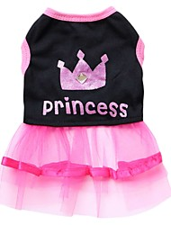 cheap -Cat Dog Dress Puppy Clothes Tiaras & Crowns Fashion Dog Clothes Puppy Clothes Dog Outfits Black Costume for Girl and Boy Dog Cotton XXS XS S M L