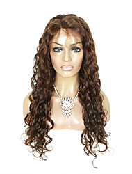 cheap -top grade brazilian virgin hair lace front wigs kinky curly with baby hair middle brown color human hair lace wigs for fashion woman