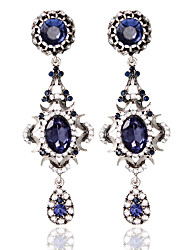 Недорогие -Жен. Серьги-кольца Мода Серьги Бижутерия Синий Назначение Свадьба