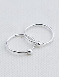cheap -Women's Hoop Earrings Clip on Earring Machete Ladies Fashion Sterling Silver Earrings Jewelry Silver For Daily Casual