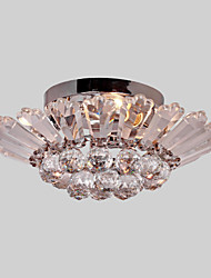 cheap -3-Light 40 cm Crystal Flush Mount Lights Metal Anodized / Electroplated Modern Contemporary 110-120V / 220-240V