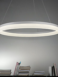 cheap -Circle Pendant Light Ambient Light Painted Finishes Metal Acrylic LED 90-240V Warm White / White / Dimmable With Remote Control
