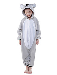 cheap -Kid's Kigurumi Pajamas Koala Animal Onesie Pajamas Polar Fleece Gray Cosplay For Boys and Girls Animal Sleepwear Cartoon Festival / Holiday Costumes