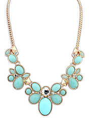 cheap -Women's Statement Necklace Statement Ladies Vintage Fashion Alloy Pink Light Blue Assorted Color Necklace Jewelry For Wedding Party Daily Casual Work