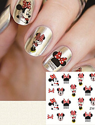 cheap -fashion printing pattern water transfer printing cartoon pattern nail stickers