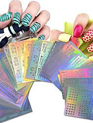 cheap -1set 63pcs nail art hollow stickers geometric image beautiful mixed hollow stickers nj215