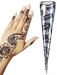 Недорогие -1 pcs Аппликаторы для работы с хной Временные татуировки Non Toxic / Большой размер / Туземные Искусство тела Лицо / руки