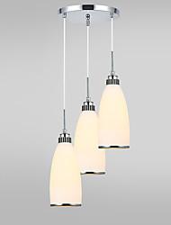 Недорогие -современная стеклянная кладка люстра 3-х сторонняя гостиная столовая подвесная лампа
