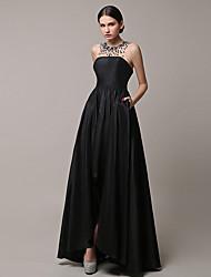 cheap -2017 Formal Evening Dress A-line Jewel Asymmetrical Satin with Beading