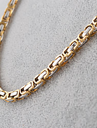 cheap -Men's Chain Necklace Ladies Vintage Fashion Hip-Hop Titanium Steel Black Silver Golden Necklace Jewelry For Party Daily Casual