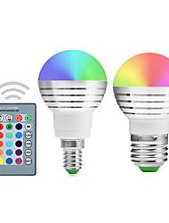 cheap -YWXLIGHT® 2pcs 5 W LED Globe Bulbs 300 lm E14 E26 / E27 1 LED Beads Integrate LED Dimmable Remote-Controlled Decorative RGB 220-240 V 110-130 V 85-265 V / 2 pcs / RoHS