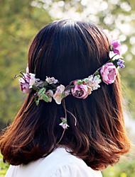 Недорогие -Жен. Девочки Назначение Свадьба Особые случаи на открытом воздухе Цветы Кружево Satin Сплав Лиловый
