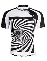 Недорогие -ILPALADINO Муж. С короткими рукавами Велокофты Черный / Белый В полоску Велоспорт Верхняя часть Горные велосипеды Шоссейные велосипеды Дышащий Быстровысыхающий Ультрафиолетовая устойчивость