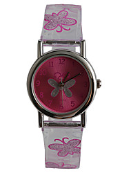 cheap -Wrist Watch Quartz Purple Water Resistant / Waterproof Analog Ladies Casual Butterfly Fashion - Transparent One Year Battery Life / Tianqiu 377