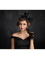 cheap -Tulle / Flax / Feather Fascinators with 1 Special Occasion Headpiece