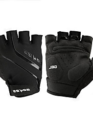 cheap -Bike Gloves / Cycling Gloves Mountain Bike Gloves Mountain Bike MTB Road Bike Cycling Breathable Padded Anti-Slip Wearproof Fingerless Gloves Half Finger Sports Gloves Leather Mesh Silicone Gel Black
