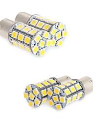 cheap -4X White 1156 BA15S LED 27-SMD Light Bulbs Tail Backup RV Camper 1141