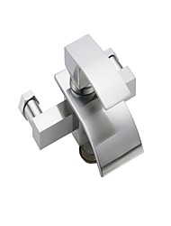 cheap -Shower Faucet - Waterfall Chrome Wall Mounted Single Handle Two HolesBath Taps