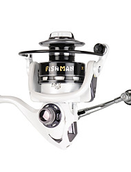 cheap -Spinning Reel 5.2:1 Gear Ratio+13 Ball Bearings Hand Orientation Exchangable Bait Casting / Ice Fishing / Spinning - TXL3000 / Freshwater Fishing / Carp Fishing / Bass Fishing / Lure Fishing