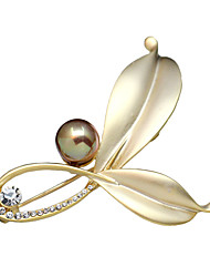 cheap -Women's Brooches Ladies Crystal Brooch Jewelry Golden Silver For Party Daily Casual