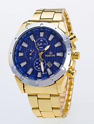 cheap -Men's Wrist Watch Quartz Gold Casual Watch / Analog Classic Casual Dress Watch - White Blue