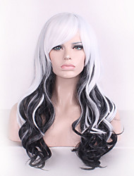 cheap -Synthetic Wig Cosplay Wig Body Wave Kardashian Body Wave Wig Black Synthetic Hair Women's Black