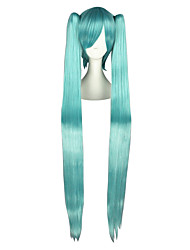 cheap -Cosplay Wigs Vocaloid Mikuo Blue Extra Long / Straight Anime Cosplay Wigs 120 CM Heat Resistant Fiber Male / Female