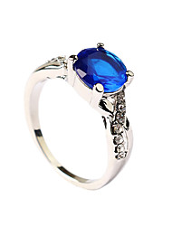 cheap -Women's Statement Ring Cubic Zirconia Blue Zircon Emerald Alloy Statement Vintage Fashion Party Daily Jewelry / Casual