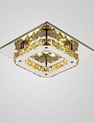 cheap -1-Light CXYlight 21 cm Crystal / Mini Style / LED Flush Mount Lights Metal Electroplated Modern Contemporary 90-240V