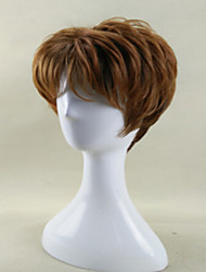 cheap -Synthetic Wig Curly Curly Wig Brown Synthetic Hair Women's African American Wig Brown hairjoy