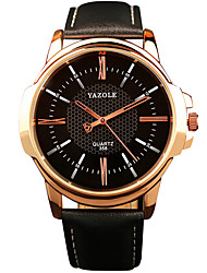 cheap -YAZOLE Men's Wrist Watch Analog Quartz Oversized Casual Casual Watch Cool / / Leather
