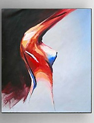 cheap -Oil Painting Hand Painted - Abstract / People / Still Life Modern / European Style Canvas