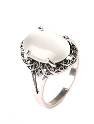 cheap -Women's Statement Ring White Opal Statement Classic Vintage Party Party / Evening Jewelry Princess / Daily / Casual