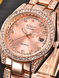 cheap -Women's Luxury Watches Wrist Watch Diamond Watch Quartz Ladies Calendar / date / day Analog Golden Rose Gold Silver / One Year / Stainless Steel / Stainless Steel / Imitation Diamond / One Year