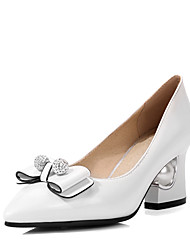 cheap -Women's Heels Chunky Heel / Jewelry Heel Bowknot / Sparkling Glitter Leatherette Upstream Shoes Winter Black / White / Silver / Wedding / Party & Evening / Dress / 2-3 / Party & Evening