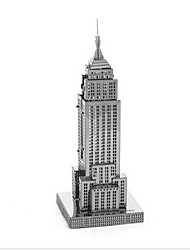 cheap -1 pcs Famous buildings Empire State Building 3D Puzzle Wooden Puzzle Model Building Kit Wooden Model DIY Metalic Kid's Adults' Toy Gift