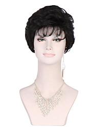 cheap -Synthetic Wig Curly Curly Wig Short Black Synthetic Hair Women's Black