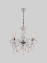 cheap -5-Light 45 cm Candle Style Chandelier Acrylic Candle-style Chrome Traditional / Classic 110-120V / 220-240V