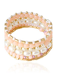 cheap -Women's Bracelet Bangles Imitation Pearl Bracelet Jewelry White / Pink For Wedding Party Daily Casual