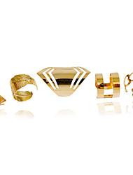 Недорогие -Жен. Кольцо Золотой Сплав Мода Свадьба Для вечеринок Бижутерия / Повседневные