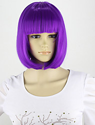 cheap -Synthetic Wig Style Bob Wig Purple Synthetic Hair Purple Wig