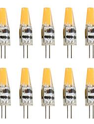 cheap -10pcs 2 W LED Bi-pin Lights 200-250 lm G4 T 1 LED Beads COB Decorative Warm White Cold White 12 V / 10 pcs