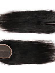 cheap -indian virgin hair 4x4 silk straight human hair lace closure bleached knots with baby hair
