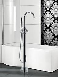 Недорогие -Современный Ар деко / Ретро Modern Ванна и душ Водопад Ручная лейка входит в комплект Вытяжная лейка Широко распространенный Установка на