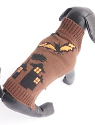 cheap -Cat Dog Sweater Winter Dog Clothes Coffee Costume Cotton Vampires Halloween XS S M L XL