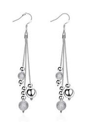 cheap -Women's Drop Earrings Earrings Long Ladies Personalized Tassel Fashion Elegant Sterling Silver Earrings Jewelry Silver For Wedding Party Daily Casual Work