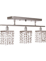 "cheap -1-Light Lightinthebox 50(20"") Crystal Flush Mount Lights Metal Chrome Modern Contemporary 110-120V / 220-240V / G9"
