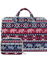 "cheap -11.6"" 13.3"" 15.6"" Canvas Elephant Animal Pattern Laptop Briefcase Handbags for Macbook/Surface/HP/Dell/Samsung/Sony Etc"