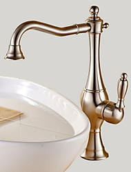 cheap -Bathroom Sink Faucet - Rotatable Nickel Brushed Vessel Single Handle One HoleBath Taps